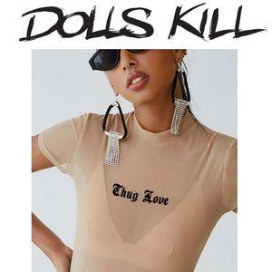 Dolls kill mesh top